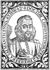Cristóbal Pérez de Herrera, médico español, en 1598.